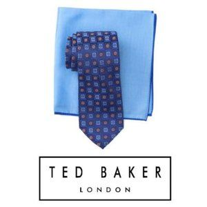 Ted Baker London Silk Gradient Square Tie Set NWT
